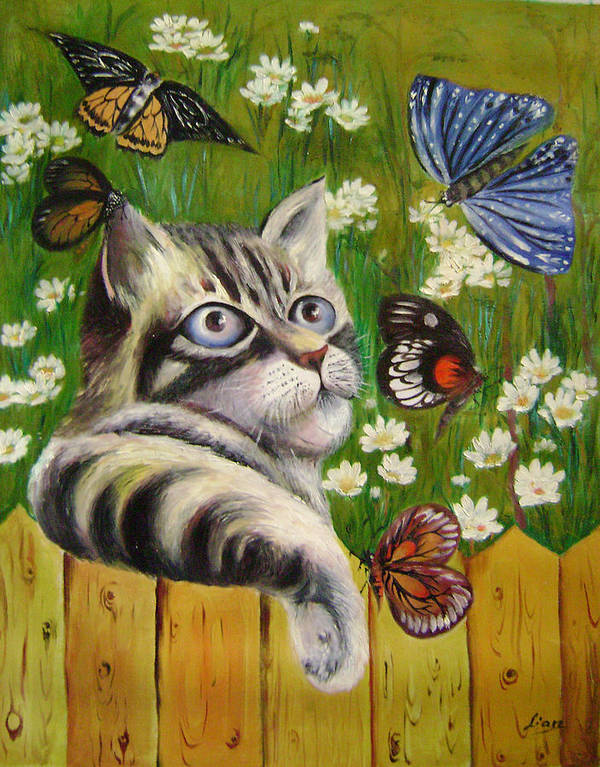 Fantasy Art Print featuring the painting Butterfly Dream by Lian Zhen