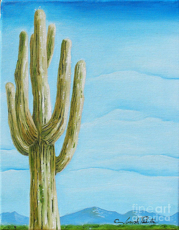 Cactus Jack Art Print featuring the painting Cactus Jack by Joseph Palotas
