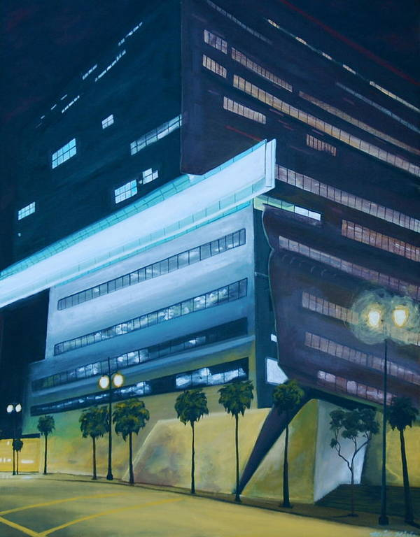 Cityscape Art Print featuring the painting Cal Trans by Keith Higgins