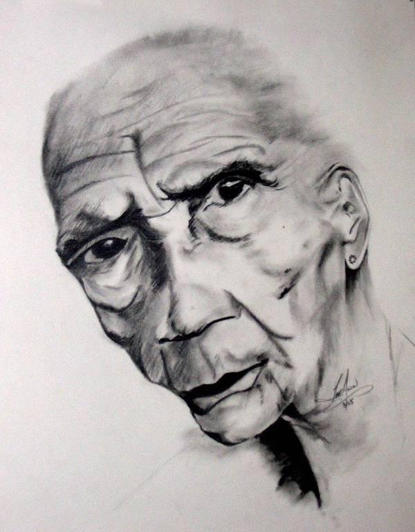 Portrait Art Print featuring the drawing Carmen by LeeAnn Alexander