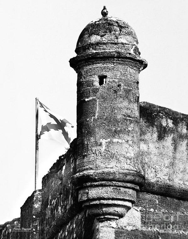 Fort Art Print featuring the photograph Castillo Lookout by Addison Fitzgerald