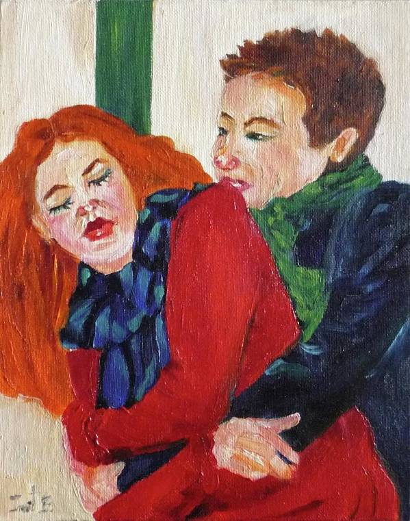 Love Art Print featuring the painting Catch Me If You Can by Irit Bourla