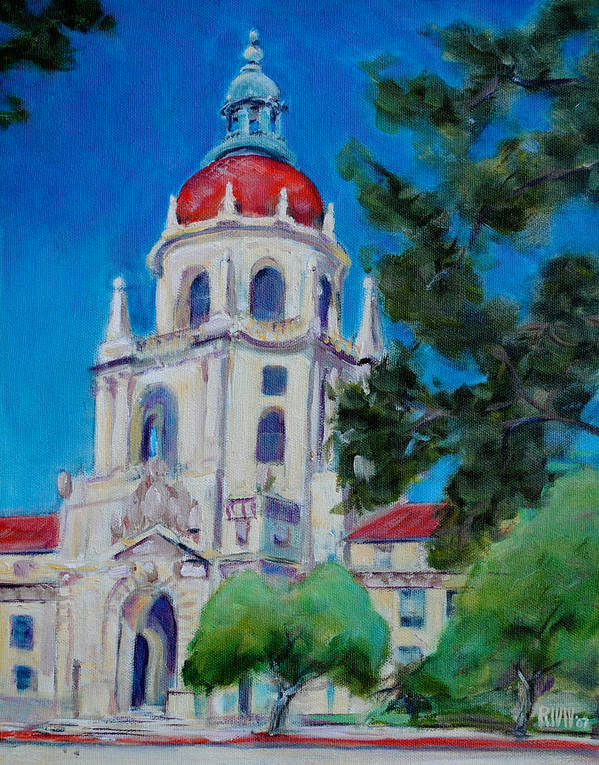 Pasadena. Historic Art Print featuring the painting City Hall by Richard Willson