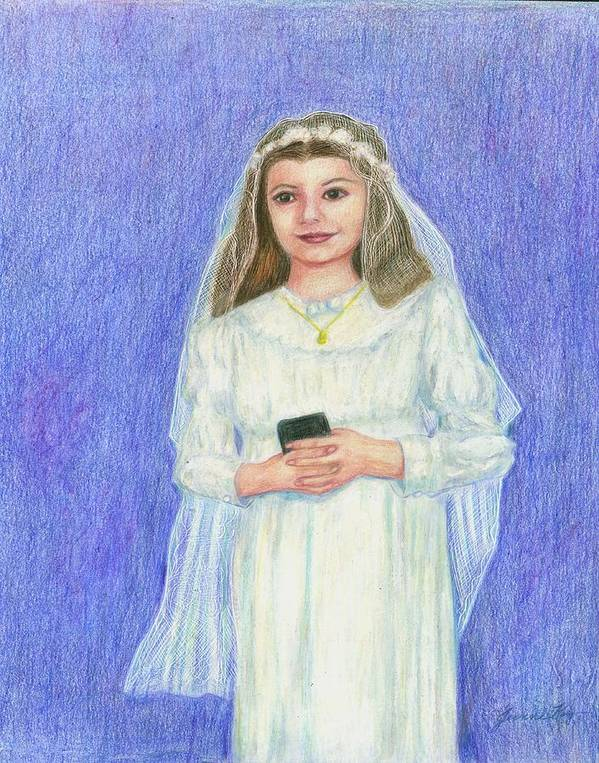 Confirmation Portrait Art Print featuring the painting Confirmation by Jeanne Kay Juhos
