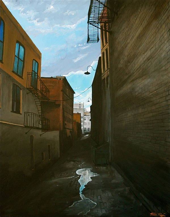 Cityscape Art Print featuring the painting Crocker Ally by Keith Higgins