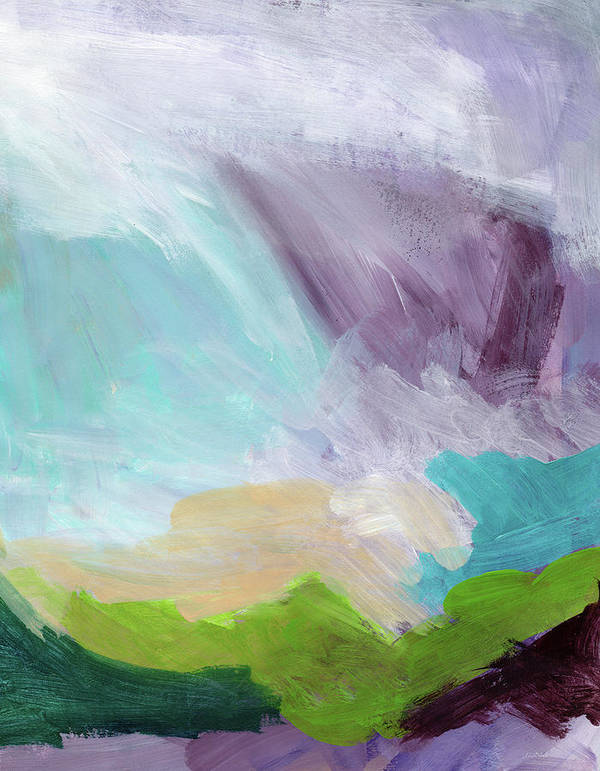 Abstract Art Print featuring the painting Deepest Breath- Abstract Art By Linda Woods by Linda Woods