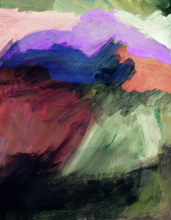 Abstract Painting Art Print featuring the painting Desert Sunset 1- Art By Linda Woods by Linda Woods