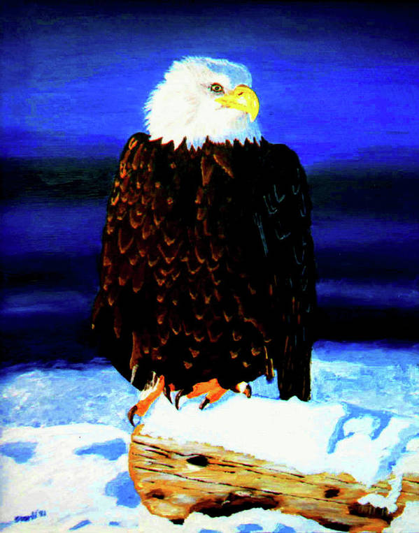 Golden Eagle Art Print featuring the painting Eagel by Stan Hamilton