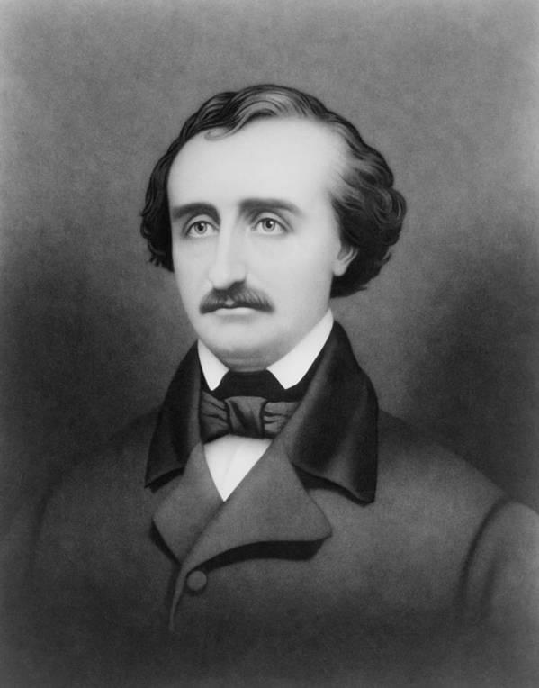 Edgar Allan Poe Art Print featuring the drawing Edgar Allan Poe Portrait by War Is Hell Store