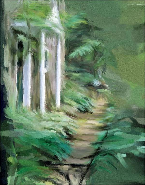 Enchanted Art Print featuring the painting Enchanted English Folly by Phil Ward