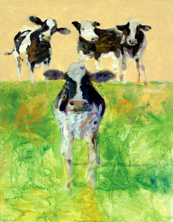Animals Art Print featuring the painting Field Of Looks by Ron Patterson