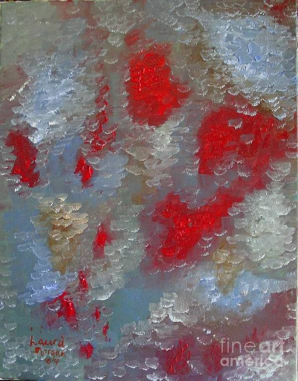 Abstract Art Print featuring the painting Frozen Street by Laurie Morgan