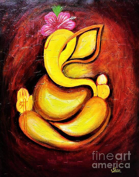 Ganesha Painting Art Print