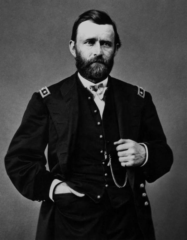 Ulysses Grant Art Print featuring the photograph General Grant During The Civil War by War Is Hell Store