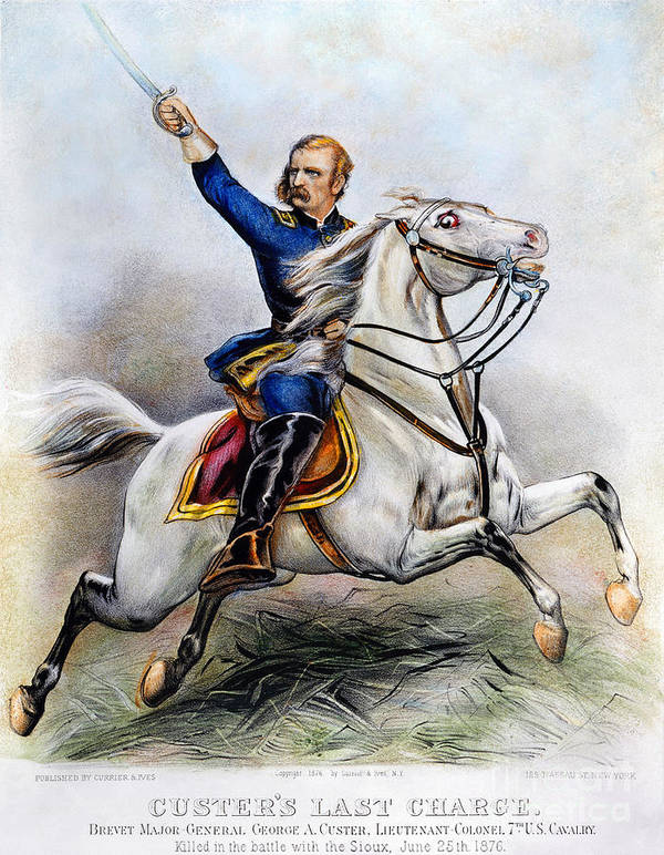 1876 Print featuring the photograph George Armstrong Custer by Granger