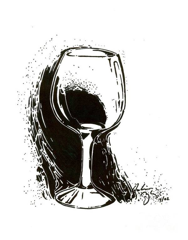 Glass Art Print featuring the drawing Glass by Julianna Ziegler