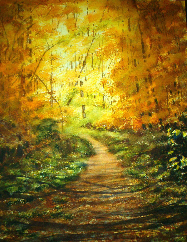 Landscape Art Print featuring the painting Golden Arches L by Shirley Braithwaite Hunt