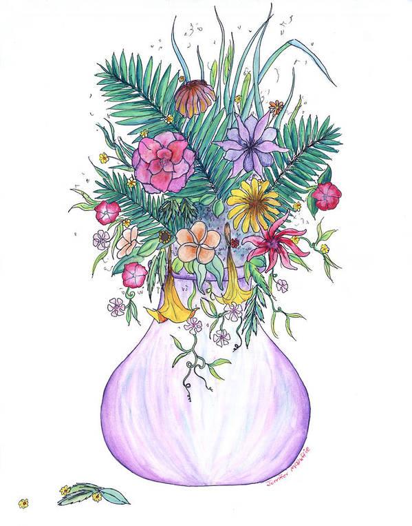 Art Print featuring the painting Gramdma by Jennifer McDuffie