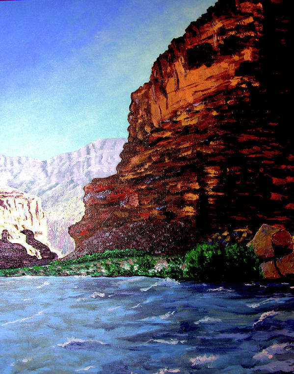 Oiriginal Oil On Canvas Art Print featuring the painting Grand Canyon II by Stan Hamilton