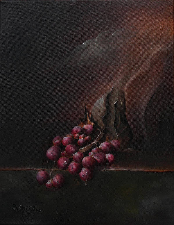 Surrealism Art Print featuring the painting Grapes by Dejan Roncevic