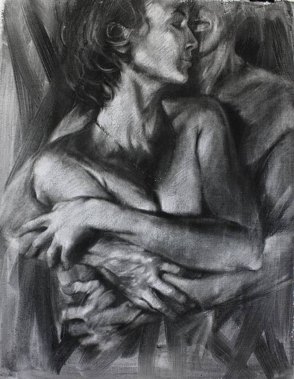Figure Drawing Art Print featuring the painting Handle With Care by Pauline Adair