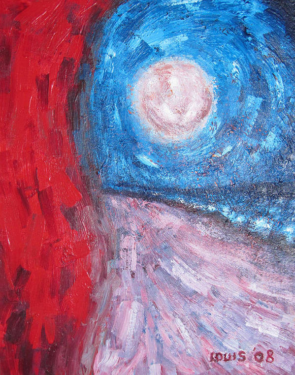 Abstract Art Print featuring the painting Highlight by Louis Stephenson