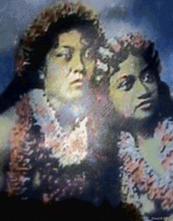 Tropical Interior Design Art Print featuring the photograph Hula Kaika Ma Hine by Kenneth Grzesik