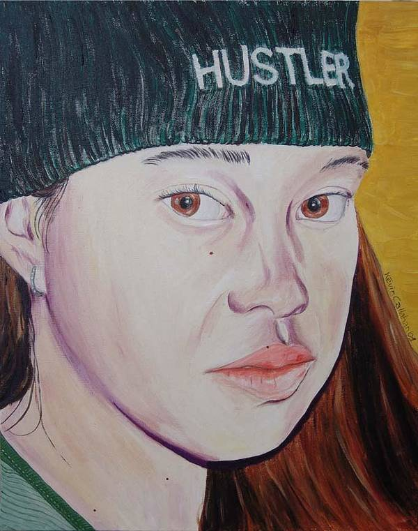 Kevin Callahan Art Print featuring the painting Hustler Girl by Kevin Callahan