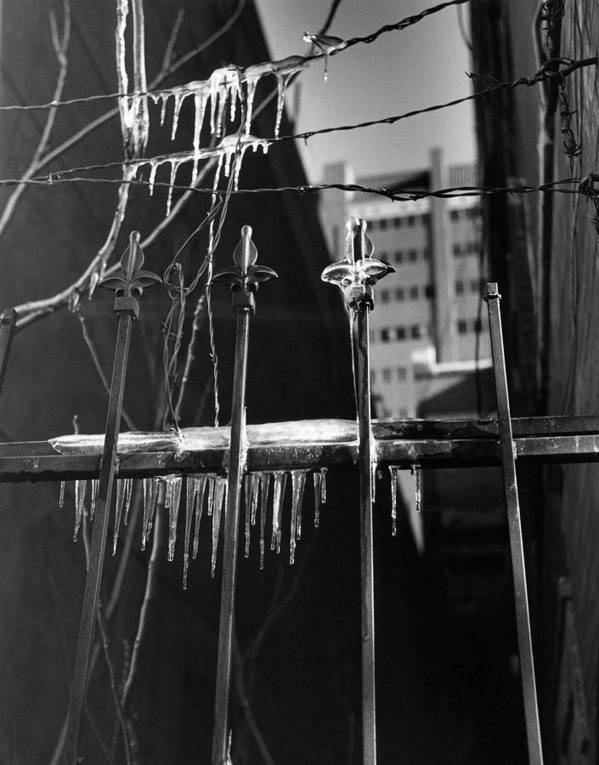 Wrought Iron Art Print featuring the photograph Icy Gates by Jim Furrer