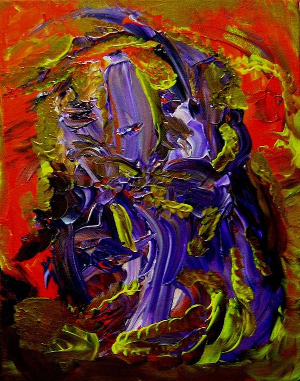 Ill Art Print featuring the painting Ill Iris by Karen L Christophersen