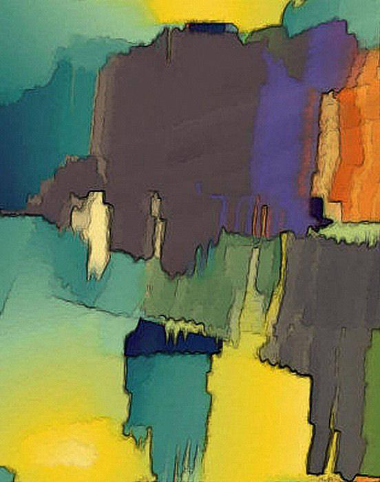 Digital Art Print featuring the digital art In Der Wueste by Ilona Burchard
