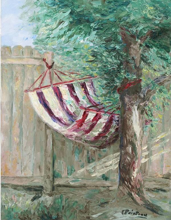 Hammock Art Print featuring the painting Invitation by Francoise Villibord Pointeau