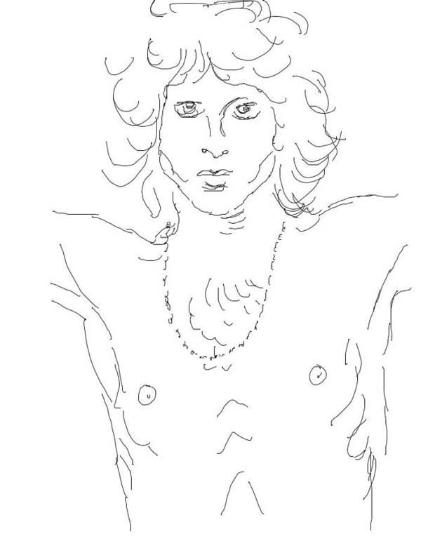 Jim Morrison Art Print featuring the photograph Jim Morrison by Angela Murray