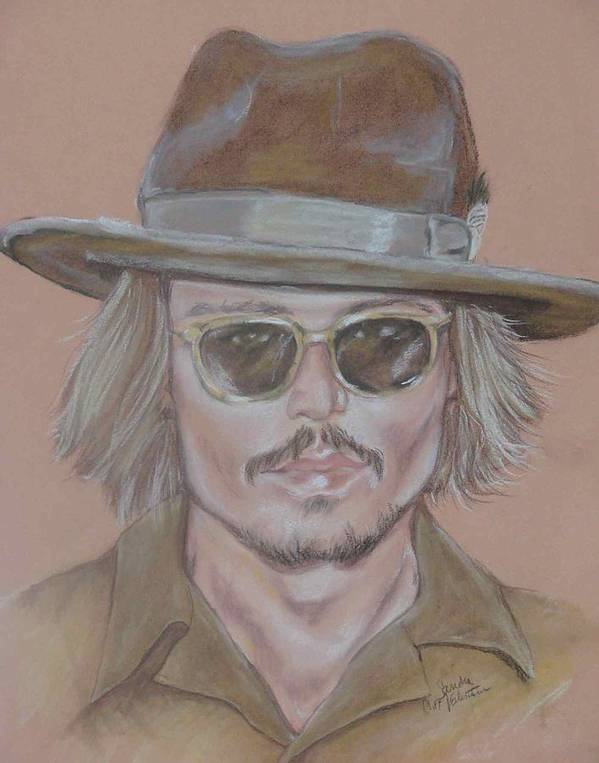 Actor Art Print featuring the drawing Johnny Depp by Sandra Valentini