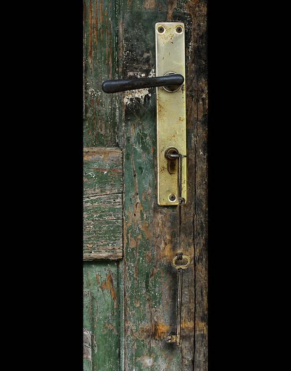 Shed Art Print featuring the photograph Key To The Barn by Don Wolf