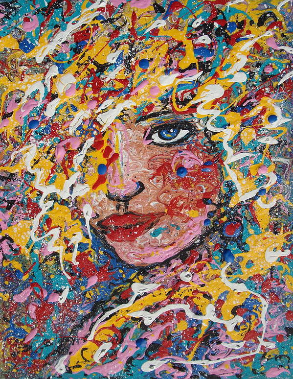 Woman Art Print featuring the painting Kuziana by Natalie Holland