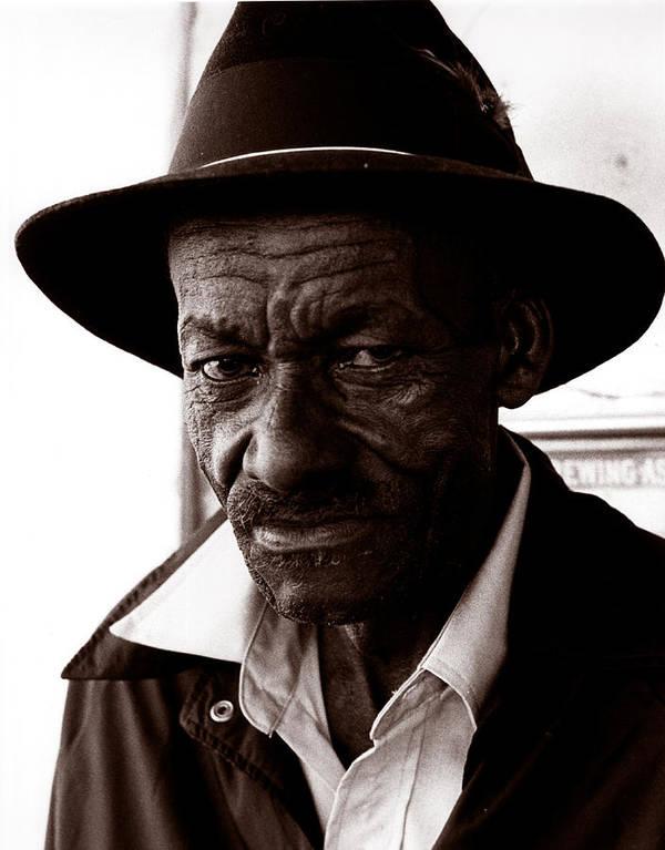 Portrait Art Print featuring the photograph Legendary Bluesman And Folk Artist James Son Thomas by David Thompson