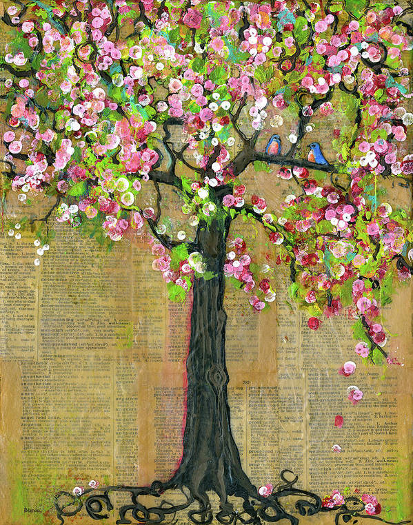 Tree Art Print featuring the painting Lexicon Tree Of Life 4 by Blenda Studio