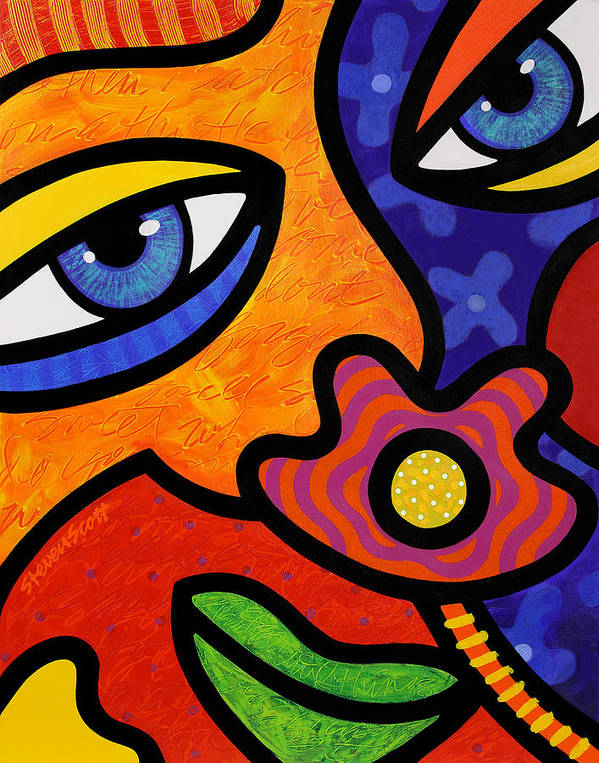 Eyes Art Print featuring the painting Lilli Lilligrin by Steven Scott