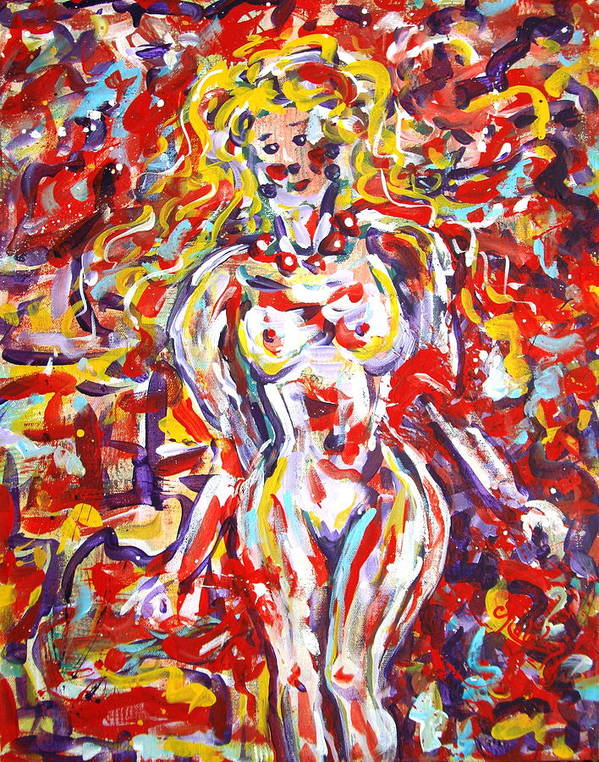 Expressionism Art Print featuring the painting Longing For You by Natalie Holland
