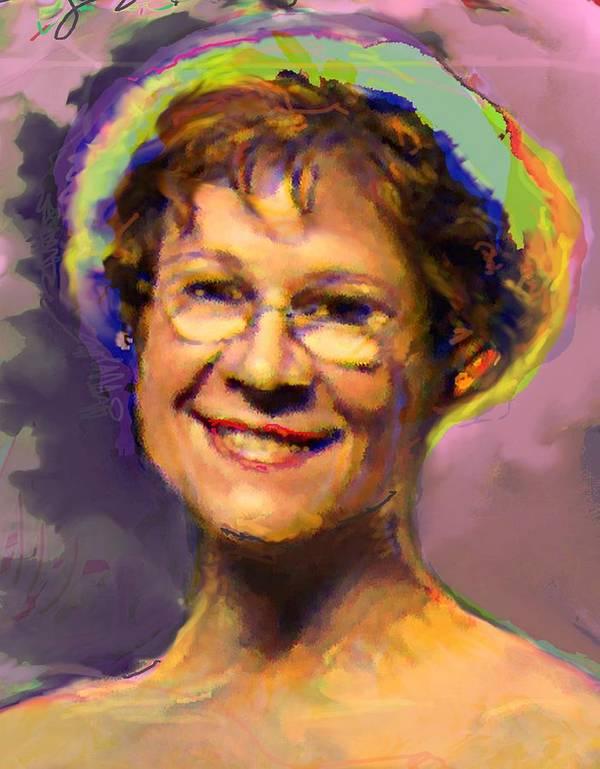 Portrait Art Print featuring the digital art Lorraine by Noredin Morgan