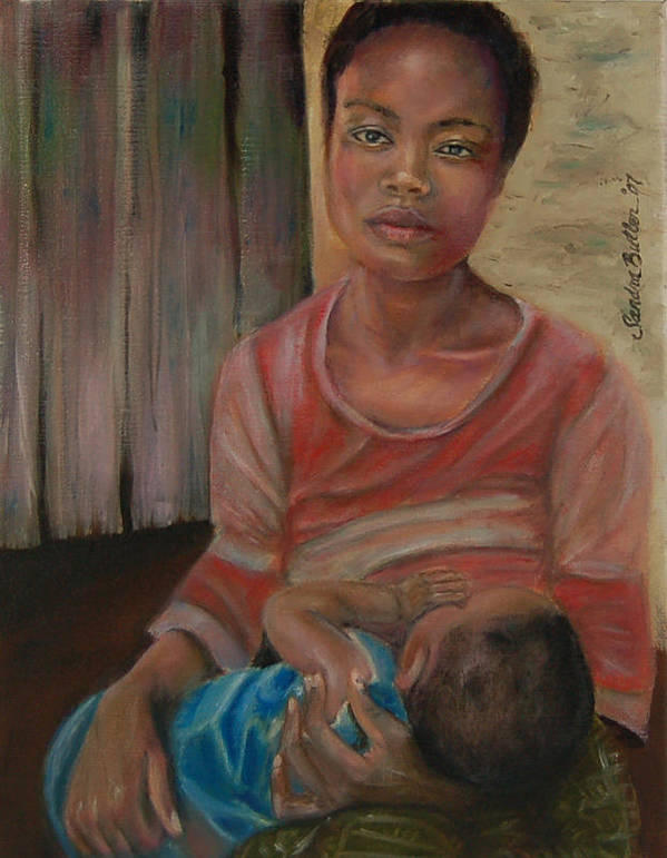 Mother Art Print featuring the painting Love And Despair by Sandra Butler