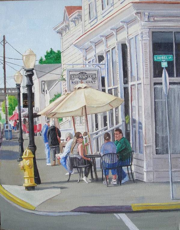 Florence Art Print featuring the painting Lunchtime In Florence, Or by Ron Bendorff