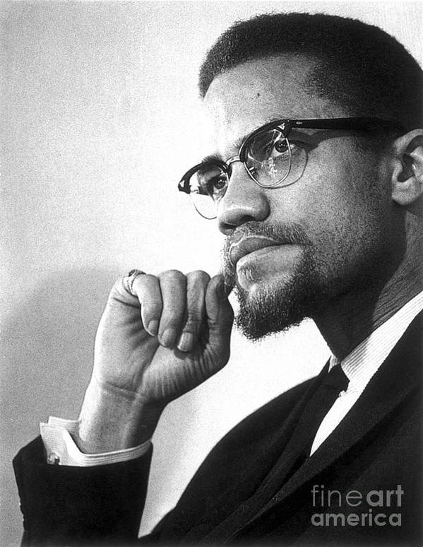 20th Century Art Print featuring the photograph Malcolm X (1925-1965) by Granger