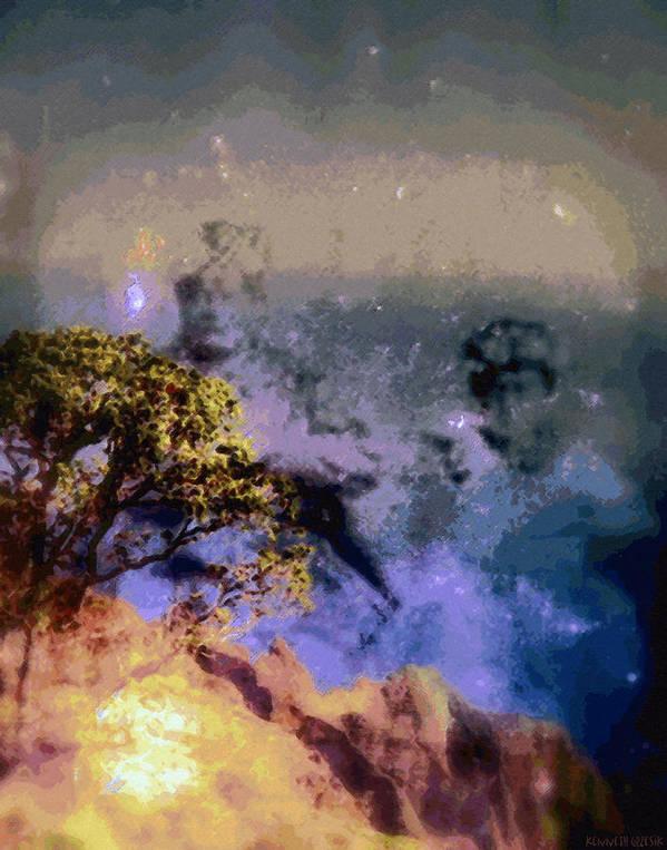Rainbow Colors Digital Art Print featuring the photograph Manahuna by Kenneth Grzesik
