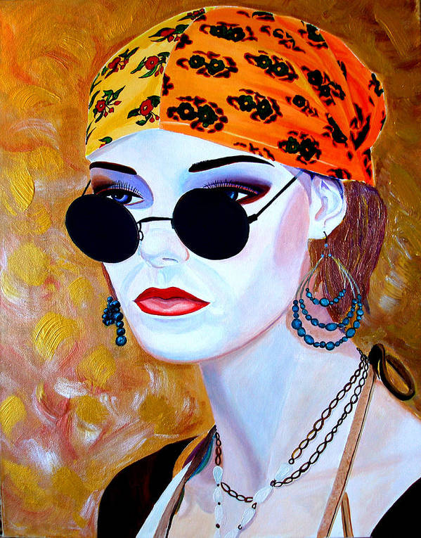 Mannequin Art Print featuring the painting Mannequin Beauty One by JoeRay Kelley