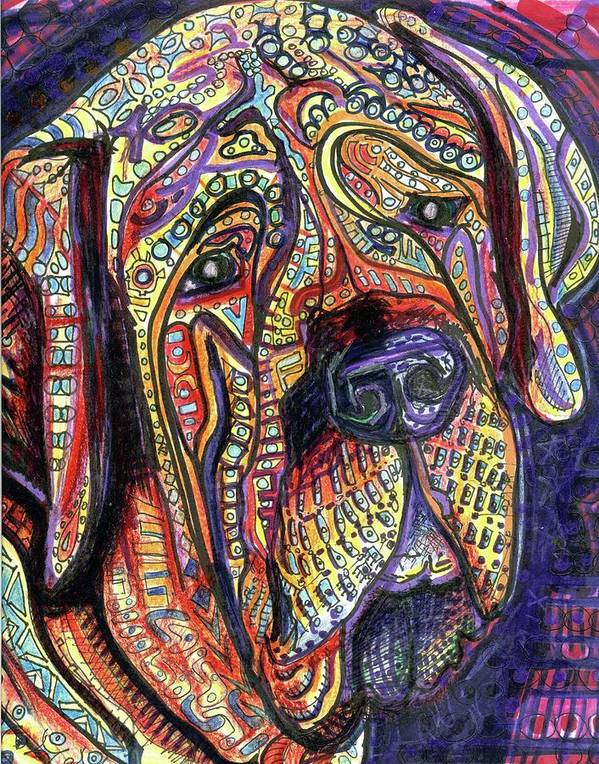 Rwjr Print featuring the painting Mastiff by Robert Wolverton Jr
