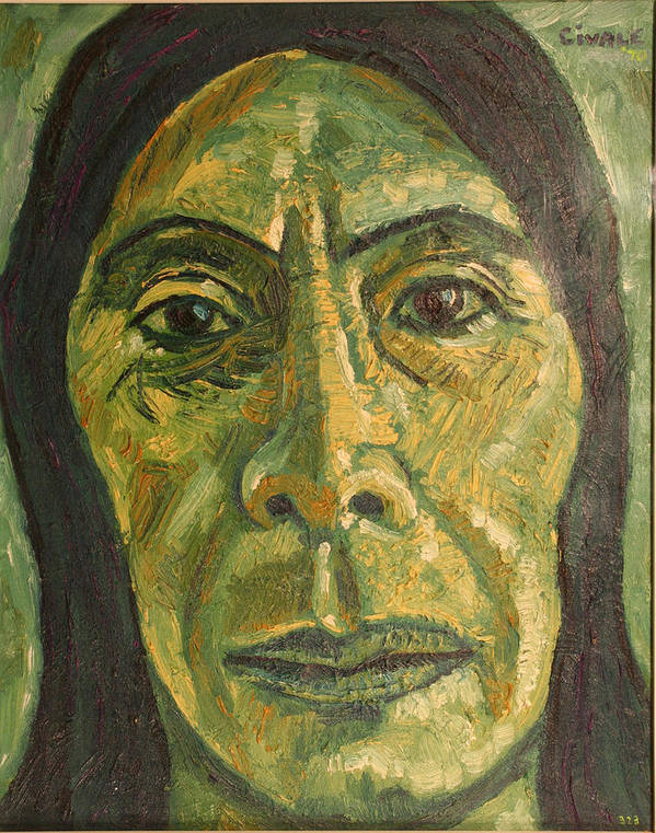 Art Print featuring the painting Mexican Woman by Biagio Civale
