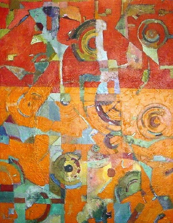 Abstract Art Print featuring the painting Midday In The Sonoran Desert by Bernard Goodman