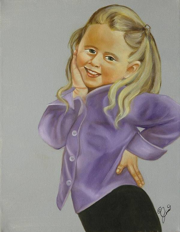 Portrait Art Print featuring the painting Miss Priss by Joni McPherson